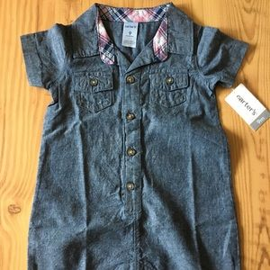 Carters denim shorts jumpsuit